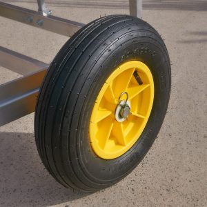 Standard trolley wheel.